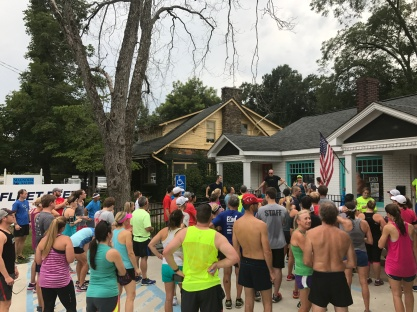 Lots of folks turned out for the 4-year Fleet Feet anniversary run.